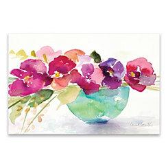 Bowl of Blooms Canvas Art Print