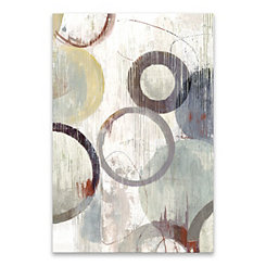 Distressed Rings Canvas Art Print