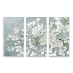 Beautiful Gray Canvas Art Prints, Set of 3