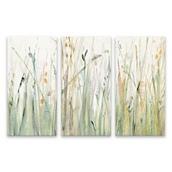 Spring Grasses Canvas Art Prints, Set of 3