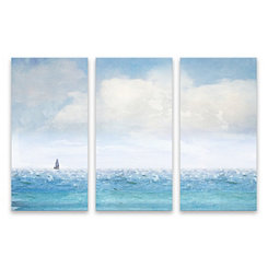 Lone Sailboat Canvas Art Prints, Set of 3