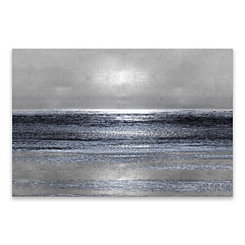 Silver Seascape Canvas Art Print