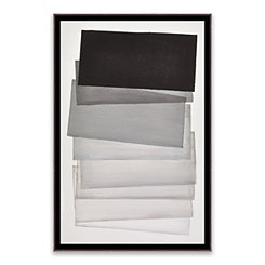 Shades of Gray Framed Canvas Art Print