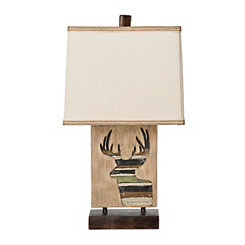 Mossy Oak Deer Silhouette Table Lamp