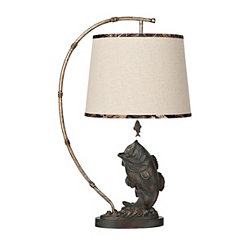 Mossy Oak Gone Fishing Table Lamp