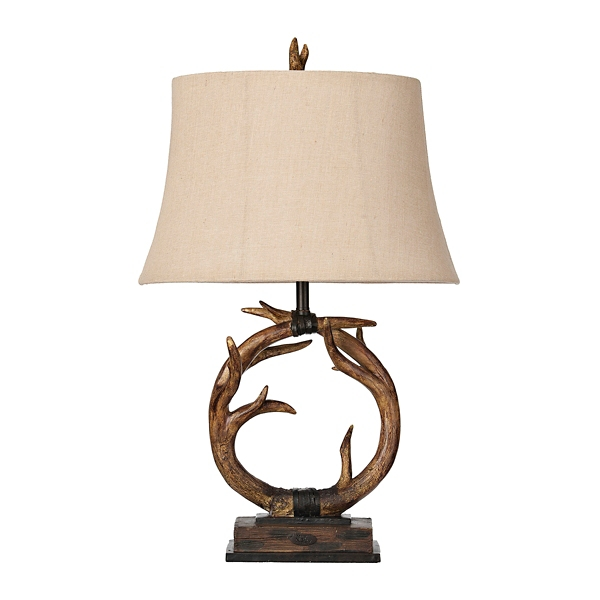dalton antlers table lamp