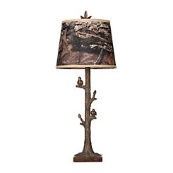 Mossy Oak Birds on a Branch Table Lamp