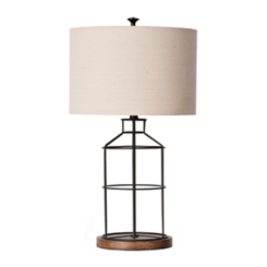 Open Metal Cage Table Lamp