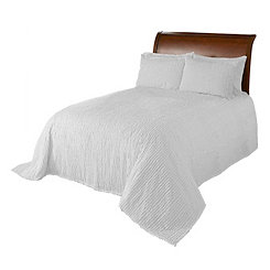 White Chenille King Bedspread