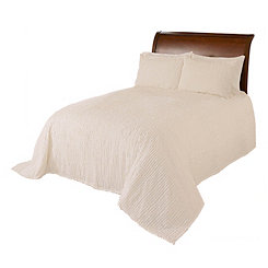 Ivory Chenille Twin Bedspread