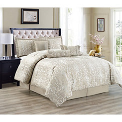 Mocha Florence 7-pc. Queen Comforter Set