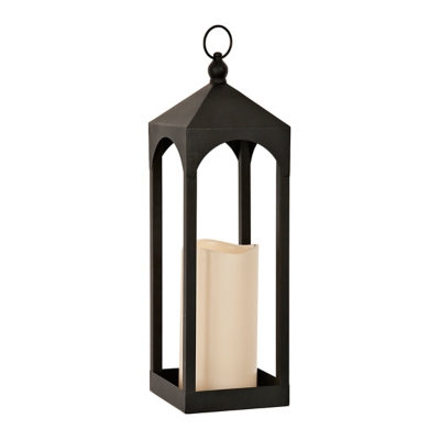 Open Black LED Lantern, 20 in.