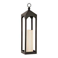 Open Black LED Lantern, 24 in.