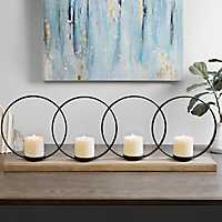 Metal Circles Candle Holder