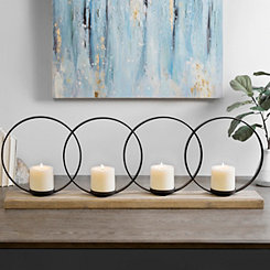 Metal Circles Candle Holder