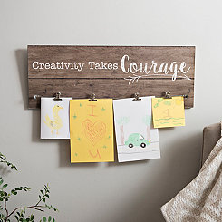 Creativity Takes Courage Wood Wall Plaque