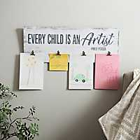Every Child is an Artist Wall Plaque with Clips
