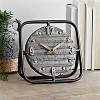 Vintage Metal Tabletop Clock