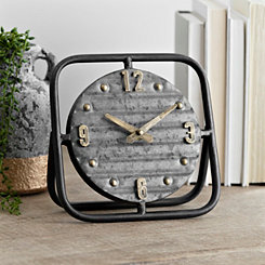 Vintage Metal Tabletop Clock