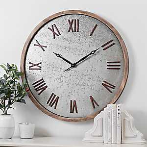 Benjamin Wood and Metal Wall Clock