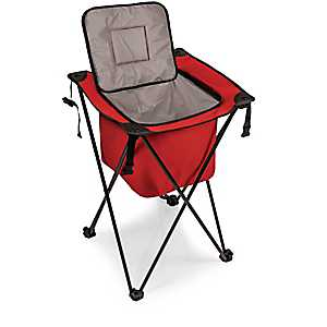 Red Sidekick Portable Cooler With Legs