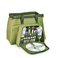 Green Toluca 14-pc. Insulated Tote Picnic Set