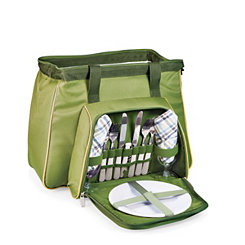 Green Toluca 14-pc. Insulated Tote Picnic Set