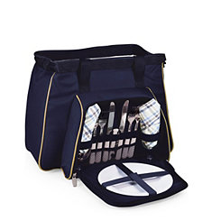 Navy Toluca 14-pc. Insulated Tote Picnic Set