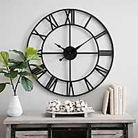 Metal Gavin Round Wall Clock