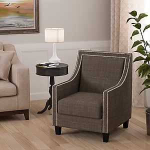 Emma Charcoal Accent Chair