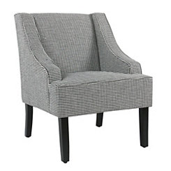 Charlotte Ebony Houndstooth Accent Chair