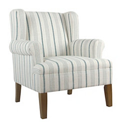 Blue Calypso Stripe Accent Chair