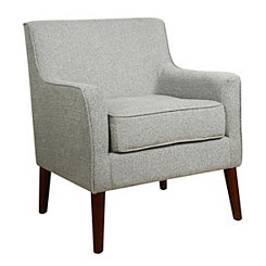 Ash Gray Mid-Century Accent Chair