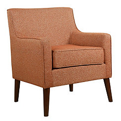 Orange Mid-Century Accent Chair