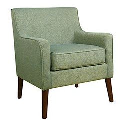 Teal Mid-Century Accent Chair