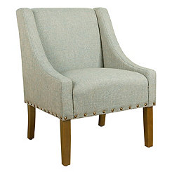 Teal Accent Chair with Nailhead Trim