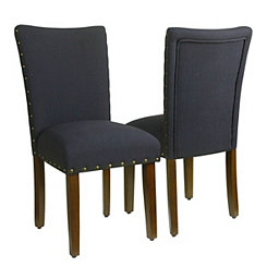 Navy Blue Parsons Chairs, Set of 2