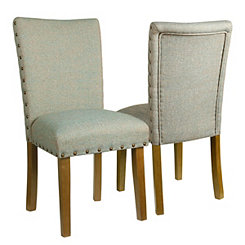 Teal Parsons Chairs, Set of 2