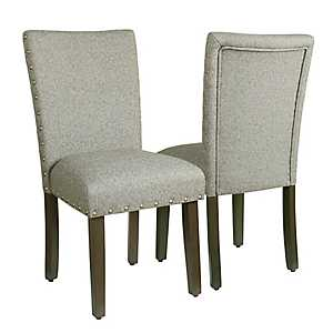 Sterling Gray Parsons Chairs, Set of 2