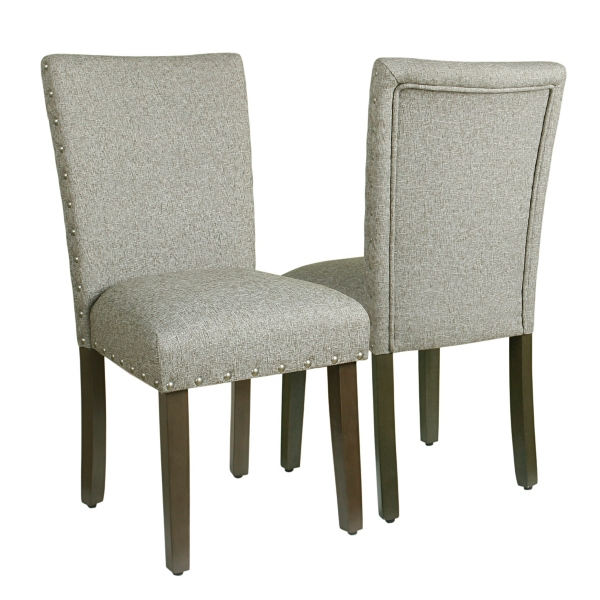 High Quality Sterling Gray Parsons Chairs, Set Of 2