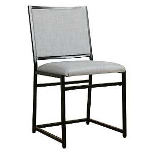 Dove Gray Industrial Metal Dining Chair