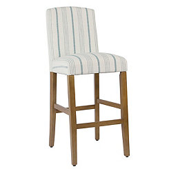 Blue Calypso Stripe Parsons Bar Stool