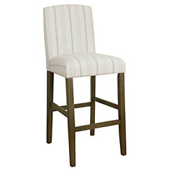 Dove Gray Stripe Parsons Bar Stool
