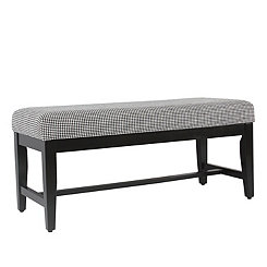 Ebony Houndstooth Bench