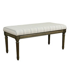 Dove Gray Stripe Bench