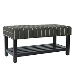 Charcoal Stripe Bench