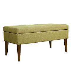 Green Mid-Century Storage Bench