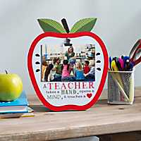 A Teacher Apple Clip Picture Frame