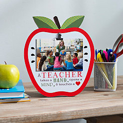 A Teacher Apple Clip Picture Frame, 4x6