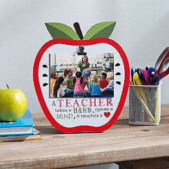 A Teacher Apple Clip Picture Frame, 4x6